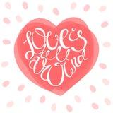 El amor está todo alrededor de tarjeta Fotos de archivo
