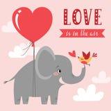 El amor está en el aire Imagen de archivo libre de regalías