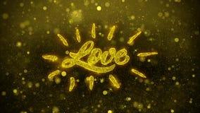 El amor feliz del d?a de tarjeta del d?a de San Valent?n desea la tarjeta de felicitaciones, invitaci?n, fuego artificial de la c ilustración del vector