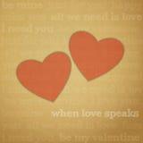 El amor habla Imágenes de archivo libres de regalías