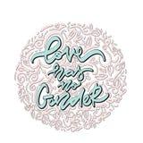 El amor no tiene ningún género Letras dibujadas mano libre illustration