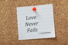 El amor nunca falla Imágenes de archivo libres de regalías