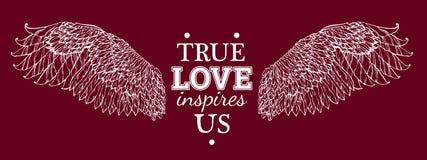 El amor verdadero nos inspira Fotos de archivo libres de regalías