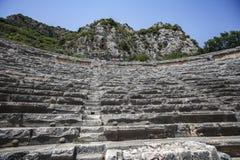 El amphitheatre en Turquía Imagenes de archivo