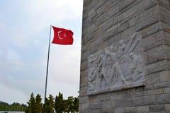 El anakkale del ‡ de à Martyrs el monumento del ` - anakkale Åžehitler Abidesi del ‡ de à Imágenes de archivo libres de regalías