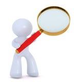 El analizar con el vidrio magnifing Imagenes de archivo