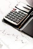El analizar de los datos financieros Foto de archivo