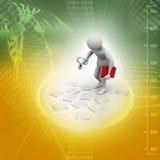 el analizar del hombre 3d libre illustration