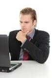 El analizar del hombre de negocios Imagen de archivo libre de regalías