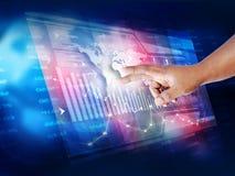 El analizar del mercado de acción Imagen de archivo