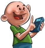 El ande del muchacho la calculadora Foto de archivo libre de regalías