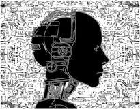 El androide revela tecnología interna Imagenes de archivo
