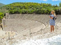El anfiteatro Epidaurus Fotografía de archivo libre de regalías