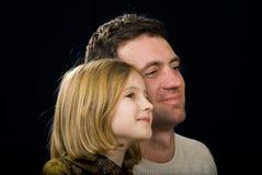 El ANG del hombre su hija Imágenes de archivo libres de regalías