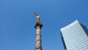 El Angel at Mexico City stock images