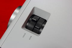 El anillo de la posición ajusta la imagen projector.part 1 Imagen de archivo libre de regalías