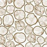 El anillo de madera consideró el modelo inconsútil de los cortes libre illustration