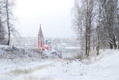 El anillo de oro de Rusia Oblast Tutaev de Yaroslavl Iglesia de Kazán de la transfiguración Foto de archivo