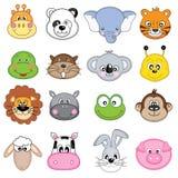El animal hace frente a iconos Fotos de archivo libres de regalías