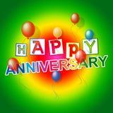 El aniversario feliz representa la diversión Joy And Celebrations Imagen de archivo libre de regalías