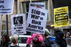 El Anti-triunfo republicano de la gala 2016 protesta NYC Fotografía de archivo