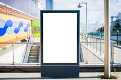 El anuncio del subterráneo en cartelera del espacio en blanco de la estación de Wall Street aprieta Estambul fotos de archivo libres de regalías