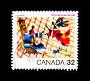 El anuncio, por Jean Dallaire, la Christmas (1984), religiosa Fotos de archivo