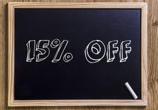 el 15% apagado imagen de archivo