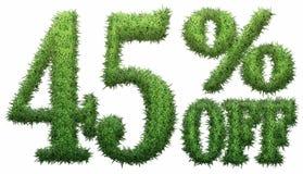 el 45% apagado Hecho de hierba Imagenes de archivo