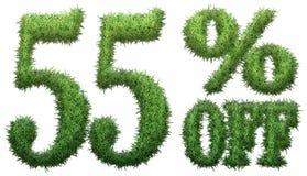 el 55% apagado Hecho de hierba Imágenes de archivo libres de regalías