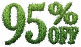 el 95% apagado Hecho de hierba Fotografía de archivo libre de regalías