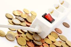 El apagar salva el dinero Imagen de archivo libre de regalías