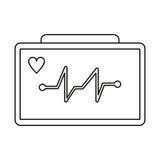 El aparato médico de la máquina del corazón de Ecg enrarece la línea ilustración del vector