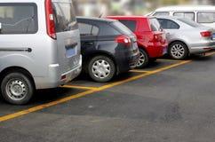 El aparcamiento Imagen de archivo