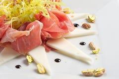 El aperitivo del jamón de Parma Foto de archivo libre de regalías
