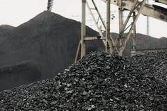 El apilador del carbón y el recuperador del carbón son maquinaria de mina, o equipo minero en la minería que grande o enorme Imagenes de archivo