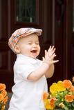 El aplaudir de Little Boy Imagen de archivo