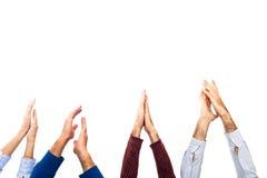 El aplaudir de manos Fotografía de archivo libre de regalías