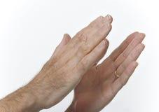 El aplaudir de manos masculino Foto de archivo