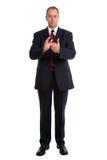 El aplaudir del hombre de negocios Imagen de archivo