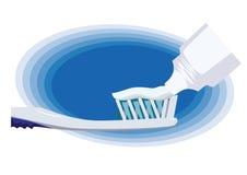 El aplicar con brocha de diente. fotos de archivo libres de regalías