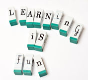 El aprendizaje es diversión Fotos de archivo libres de regalías