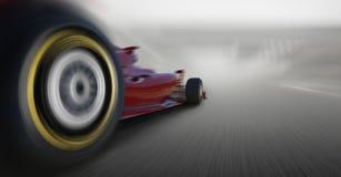 El apresurar del coche del Fórmula 1 Imagen de archivo libre de regalías