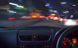 El apresurar en la noche Imagenes de archivo