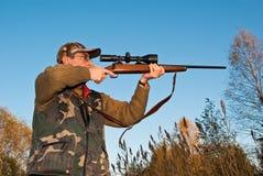 El apuntar del cazador Foto de archivo libre de regalías