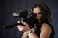 El apuntar para el shooting imagen de archivo libre de regalías