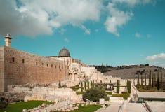 El-aqsamoské, Jerusalem, Israel Royaltyfria Foton