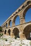 El Aquaduct - el Pont romanos du Gard fotografía de archivo libre de regalías