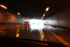 El Aquaplaning en un tunel Fotos de archivo libres de regalías