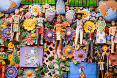 EL arbol de la vida, a árvore de vida, uma tradição asteca Imagem de Stock Royalty Free